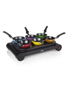 Conjunto de wok de 6 sartenes wok Tristar BP-2827