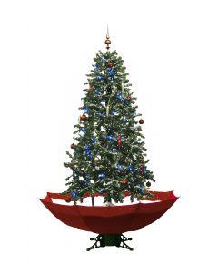 Árbol de Navidad nevando rojo 170cm