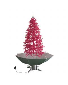 Árbol de Navidad nevando rosa 180cm