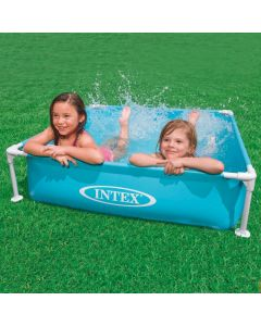 INTEX™ Mini Frame Pool - Piscina infantil azul (122 x 122 cm)