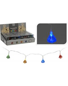 10 luces LED multicolor