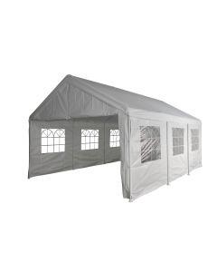 Carpa para fiestas de 4x6 metros blanca con paredes laterales Pure Garden & Living
