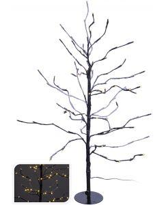 Árbol LED marrón 112 luces - 90 cm