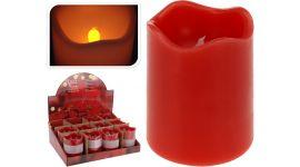 Vela LED con temporizador 7 x 9 cm roja