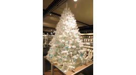 Árbol de Navidad 150 cm de gran calidad blanco