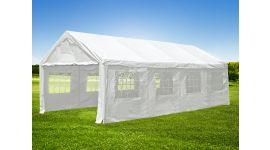Carpa para fiestas de 4x8 metros blanca con paredes laterales Pure Garden & Living